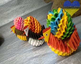 Origami Easter, Origami Egg, Ecofriendly Origami, Origami Chicken, Origami Easter Egg, Paper Easter Eggs, Modular Origami, 3d Origami