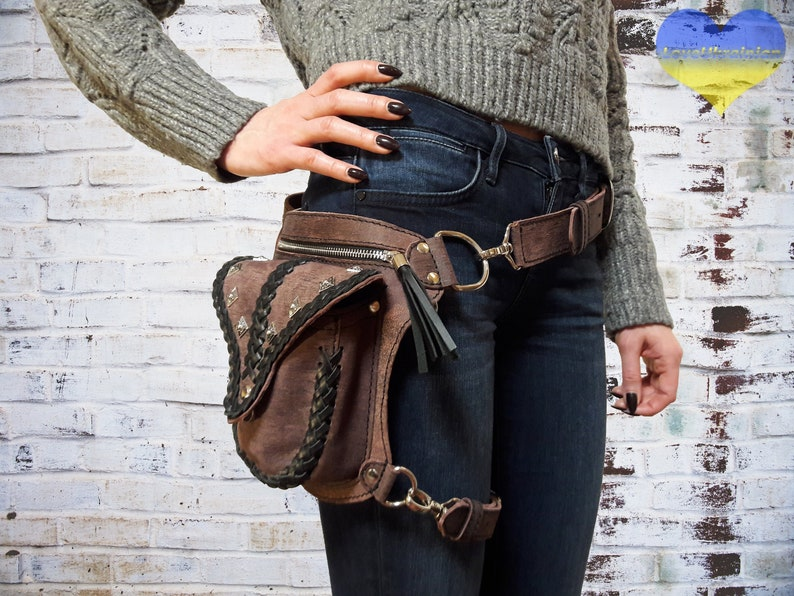6c2189ee687a Waist Bag, Leather Utility Belt, Leather Waist Bag, Hip Bag, Holster Bag,  Leather Hip Bag, Belt Bag, Utility Belt, Thigh Bag, Thigh Holster