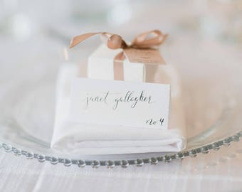 Elegant Place Cards, Calligraphy, Place Cards, Wedding, Stationery, Hand Written