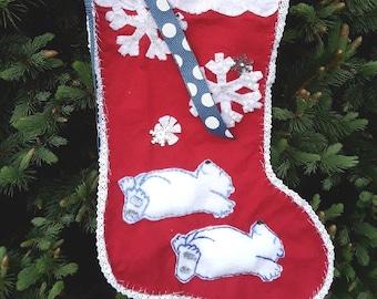 Polar Bears making snow Angels