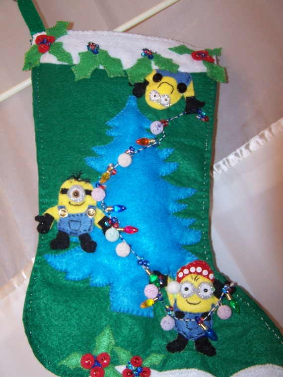 image 0 - Minion Christmas Stocking