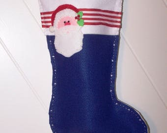 Santa holiday stocking christmas
