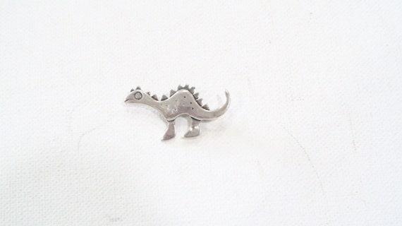 Small dinosaur stegosaurus brooch sterling 925