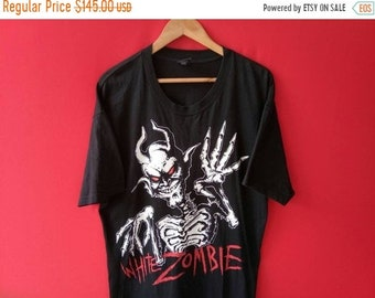 eef5543f vintage white zombie metal band music concert xlarge mens t shirt