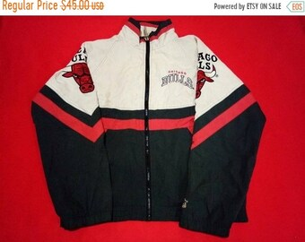 vintage chicago bulls starter jacket fully zipper large mens size 4d086e25604
