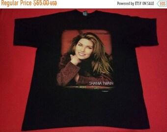 891f08e8a vintage Shania Twain famous singer 90s music concert xlarge mens t-shirt