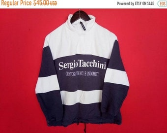 86a81c32160 vintage Sergio Tacchini sweatshirt spell out small mens