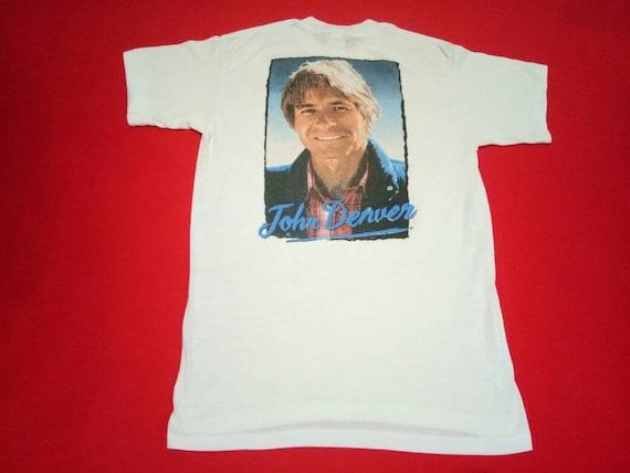 vintage John Denver singer world tour 80s large me