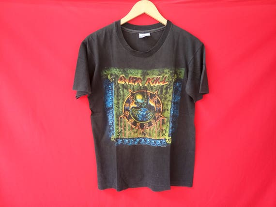 vintage Overkill heavy metal band music concert men t-shirt 8BHEIahd0