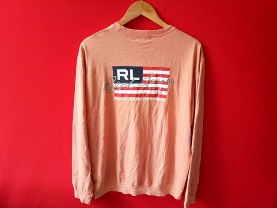 68ae1f5ab46c 10 % vintage polo ralph lauren Amérique drapeau t sweatshirt grands hommes t  drapeau shirt a28155 ...