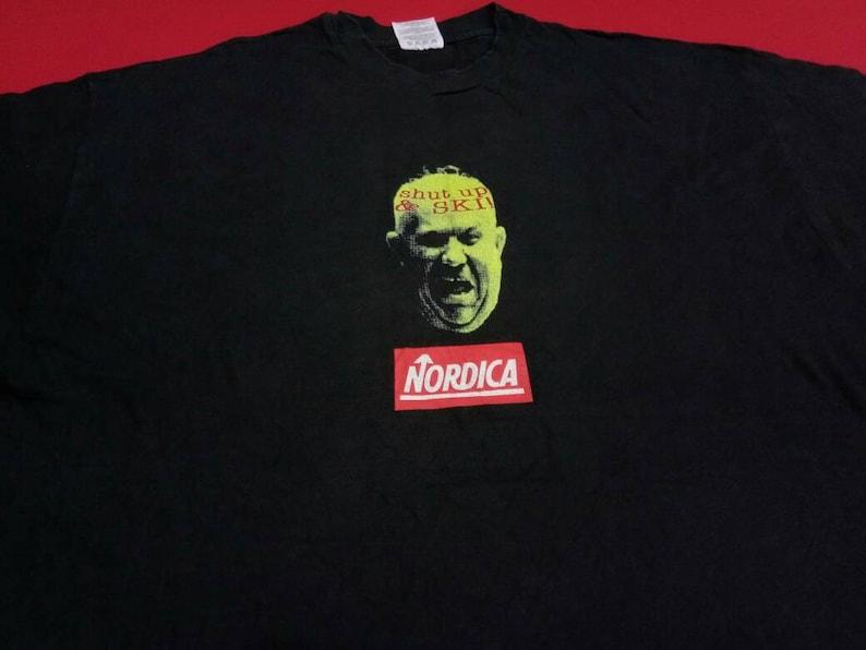 90s xlarge mens t-shirt vintage Nordica shup and ski!