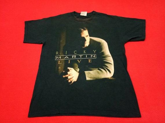 vintage Ricky Martin singer 90s t shirt