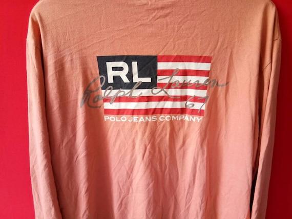 caf128755049 ... 10 % vintage polo ralph lauren Amérique drapeau t sweatshirt grands  hommes t drapeau shirt a28155 ...