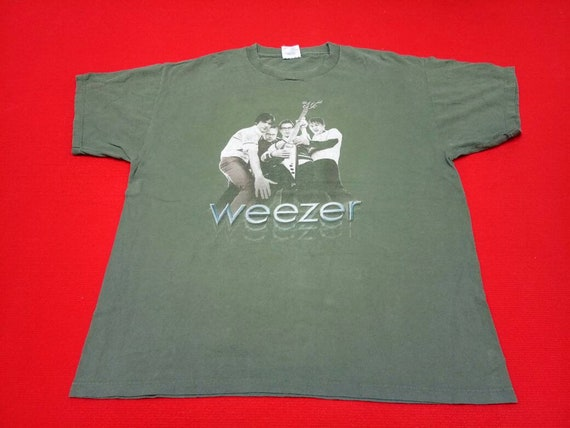 vintage Weezer band music concert tour t shirt