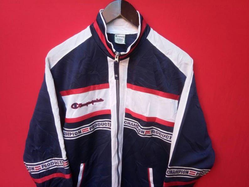vintage champion jacket fully zipper small mens size