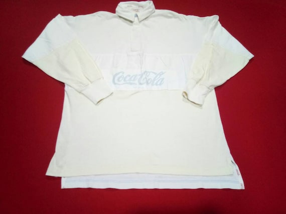 vintage coca cola rugby 90s polo mens shirt
