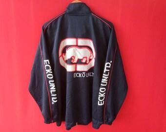 vintage ecko big logo fully zipper Large mens