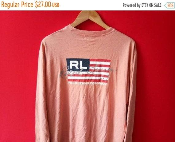 6b76e8b8090c 10 % vintage polo ralph lauren Amérique drapeau t sweatshirt grands hommes t  drapeau shirt a28155