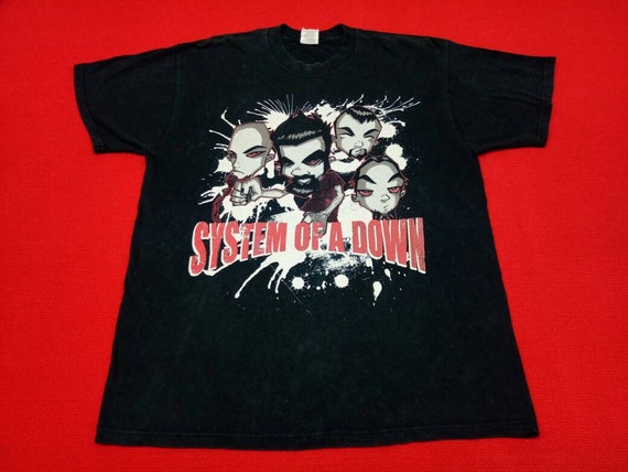 vintage System of a down band t shirt
