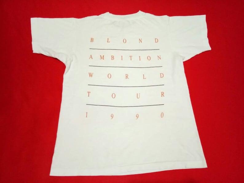 vintage madonna blond ambition singer 90s rap tee style medium mens t shirt