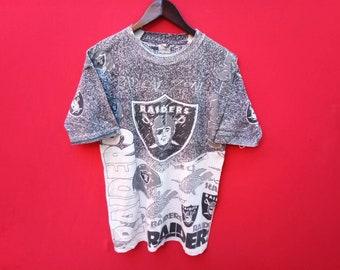 vintage raider overprint large mens t shirt