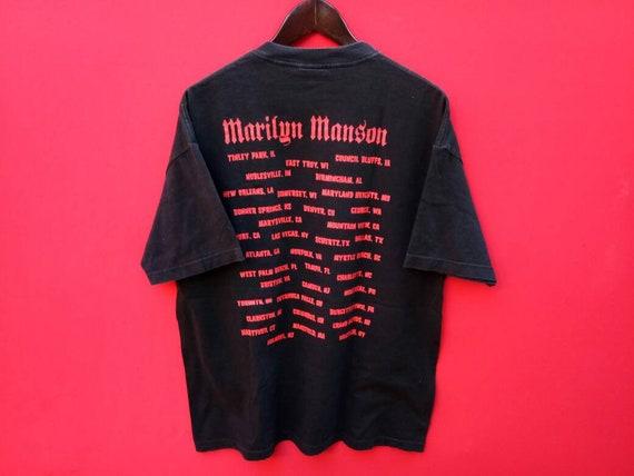 10 % vintage marilyn manson bande des années 90 musique shirt concert grands hommes t shirt musique dd6d8f