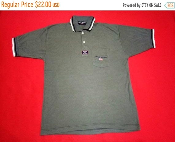 b9f27ca9cff1f vintage polo sport small logo large mens size