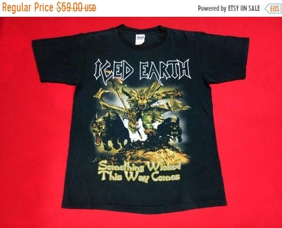 vintage Iron maiden iced earth metal music concert