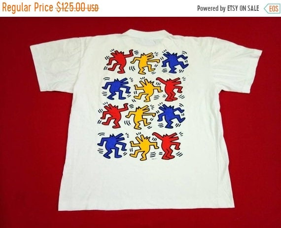 4555df t grands s 10 Keith shirt 90 90 vintage haring hommes Y448Svq