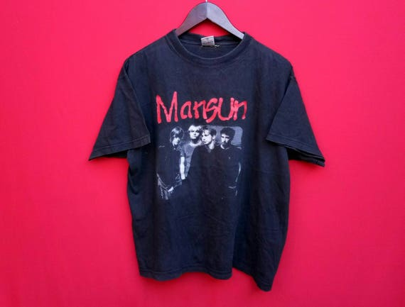 vintage Mansun indie band music large mens t shirt