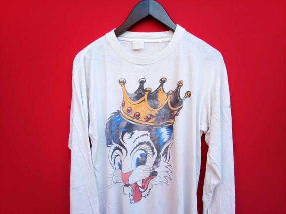 10 % vintage Stray cat 1989 blast off tour 1989 cat xlarge mens t-shirt 317410