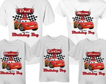 c2d202aa5 Disney Cars, Disney Cars Shirts, Disney Cars McQueen, Lightning McQueen, Customized  Name Disney Cars Birthday Shirt