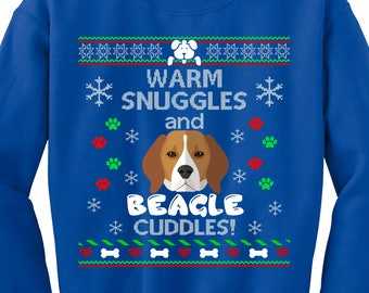 Ugly Christmas Sweater, Ugly Sweater Party, Beagle Ugly Christmas Sweatshirt, Beagle  Sweatshirt, Ugly Sweater Contest, Christmas Jumper