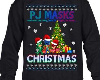 Pj Masks, Ugly Christmas Sweater, Ugly Sweater Party, Christmas Sweatshirt, Pj Masks Christmas Sweatshirt, Ugly Sweater, Christmas Jumper