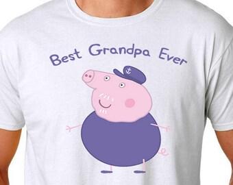 Grandpa Pig, Grandpa Shirt, Best Grandpa Ever, Grandpa Pig Tshirt, Father's Day Shirt, Father's Day Gift