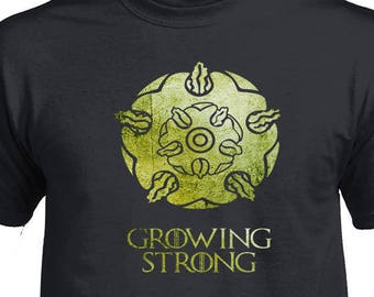 Game of Thrones, House of Tyrell, Game of Thrones Tshirt, Tyrell Growing Strong T-shirt, Got Fandom Shirt, Birthday Gift