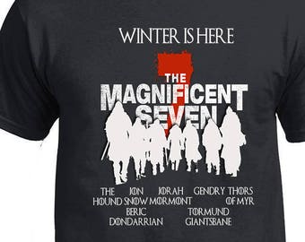 Game of Thrones, Winter is Here, The Magnificent 7, john snow, tormund brienne, thors of myr,jorah mormont,gendry,beric dondarrion,the hound