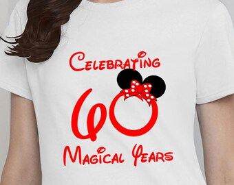Disney Birthday Shirt Adult Tshirt 60th Customized Mickey Minnie