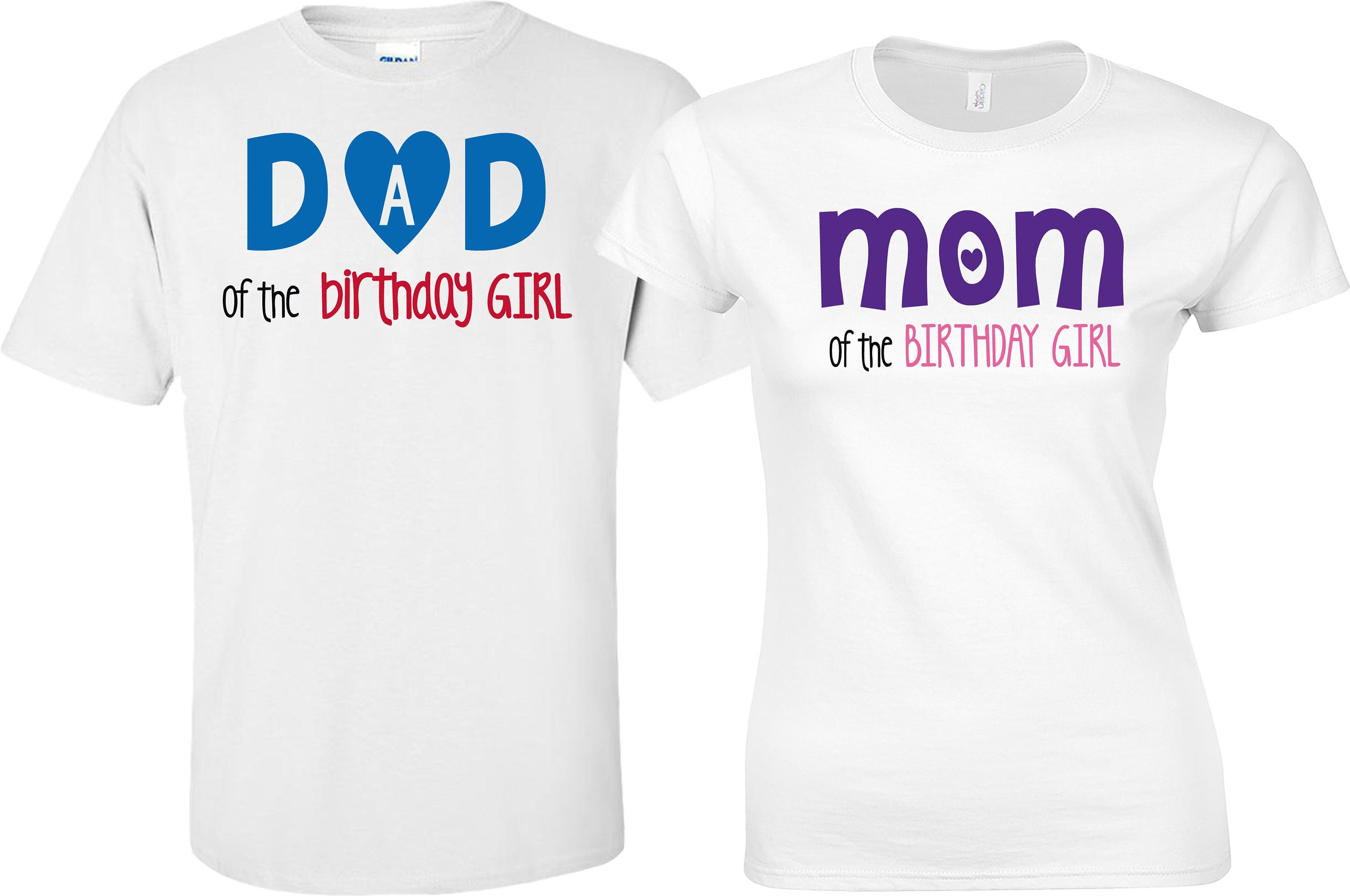 Couples Shirts Parents Of Birthday Girl Daddy The Mommy Family Outfit