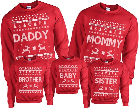 Ugly Christmas Sweater Family Ugly Christmas Sweater Etsy