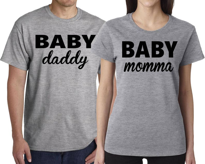 a7c707a8 Couples Shirts Baby Momma T-shirt Baby Daddy Shirt | Etsy