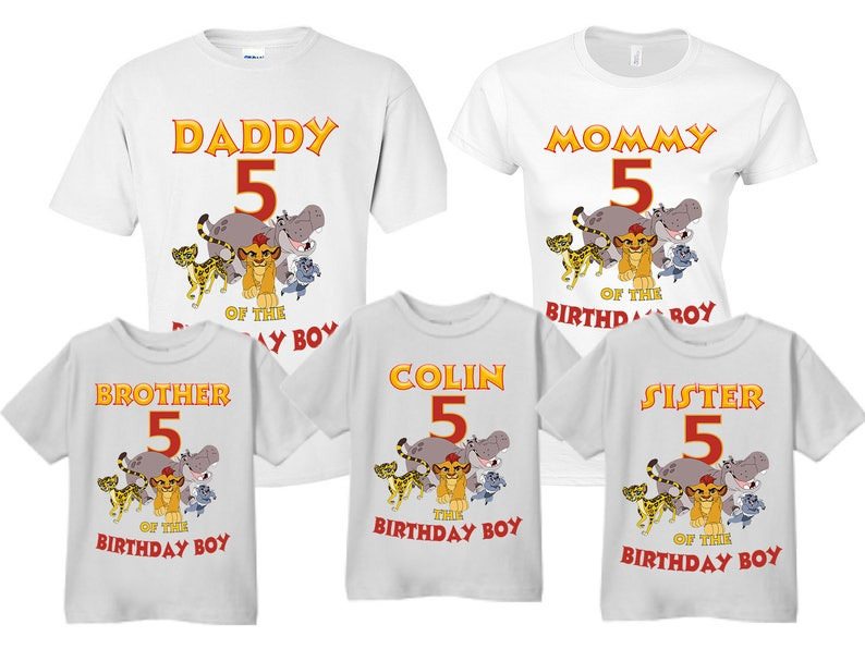 b6818eb7 The Lion Guard Lion Guard Mom/Dad/Sister/Brother of Birthday | Etsy