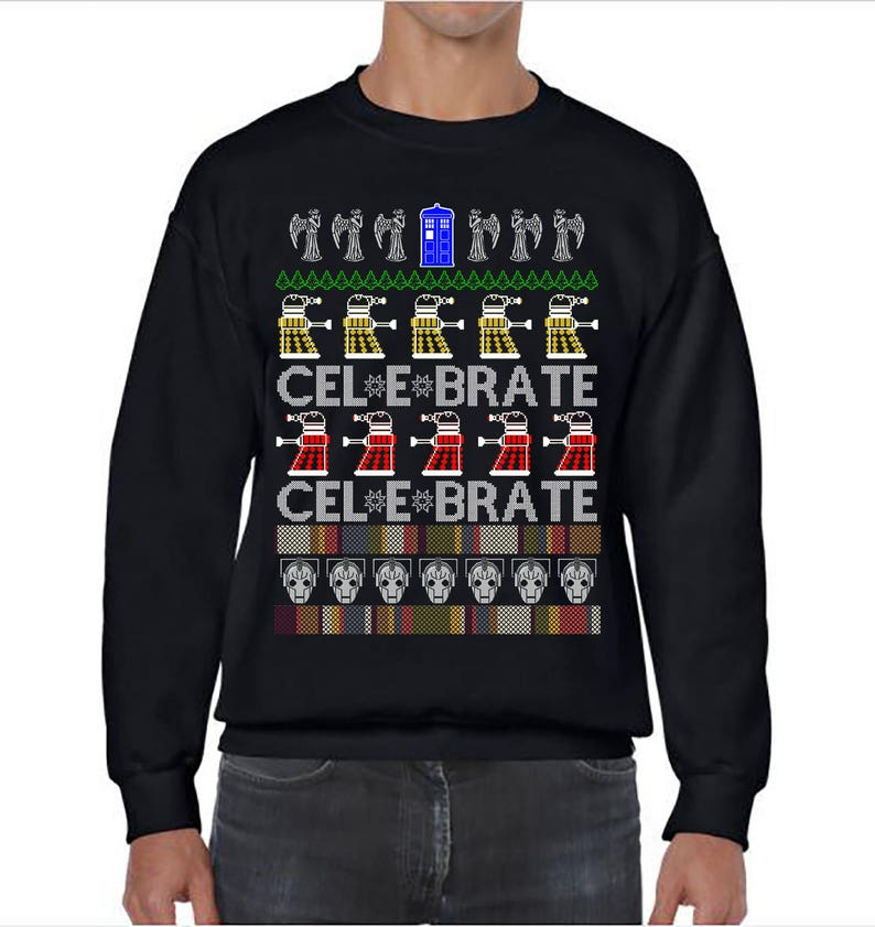 Dc Christmas Sweater.Ugly Christmas Sweater Dr Who Doctor Who Ugly Christmas Party Dc Who Sweatshirt Ugly Sweater Party Ugly Sweater