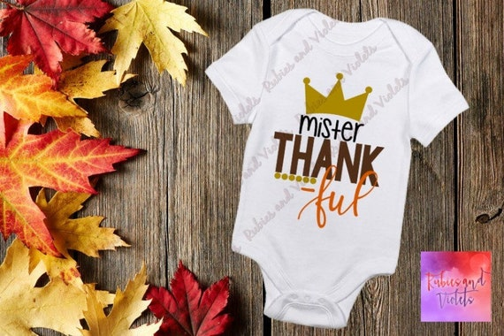 New Carters Baby Thankful I/'m Cute Thanksgiving Bodysuit Sizes NB 6M Turkey