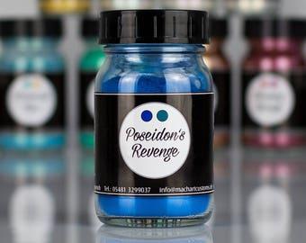 Poseidon's Revenge: Pearl Effect Pigment Opaque, Blue - ghost pearls - flip flop - effect pigment - metal flakes - pearlescent pigment