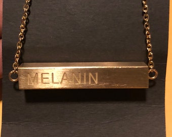 MELANIN necklace - 24k Gold Plated, Stainless Steel