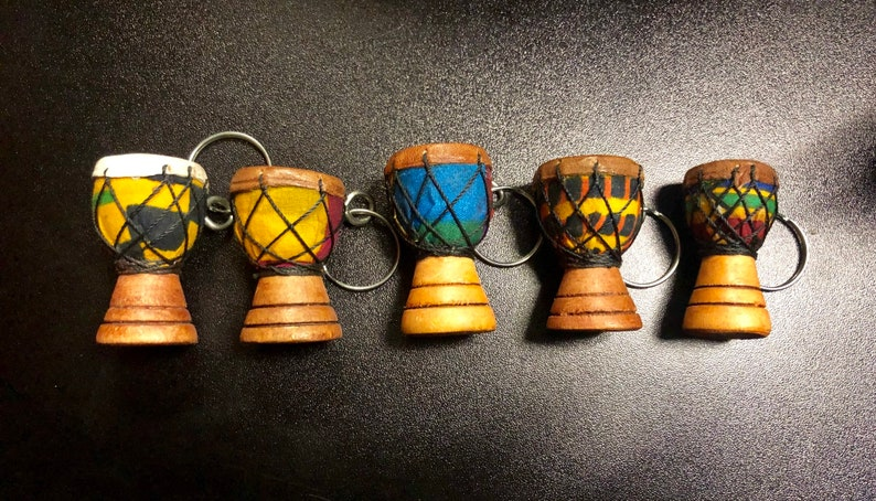 Djembe / African Drum Keychain image 0