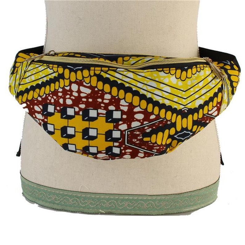 Ankara / African Print Fanny Pack  Yellow image 0