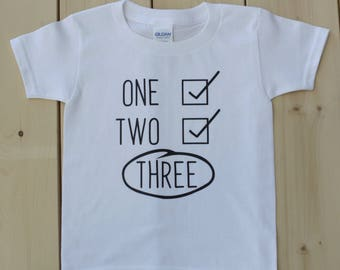 Third Birthday Shirt 3rd Boys Personalised Boy 3 Year Old