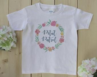 Petal Patrol Shirt, Flower Girl Shirt, Flower Wreath Shirt, Petal Patrol Bodysuit, Flower Girl Bodysuit, Flower Wreath Petal Patrol